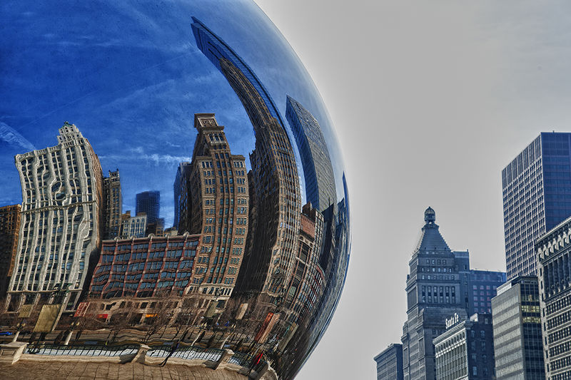 Cloud Gate Reflection