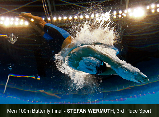 Men 100m Butterfly Final by Stefan Wermuth