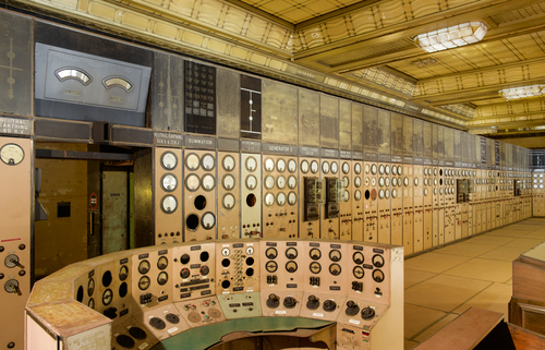 Battersea power station control room A side