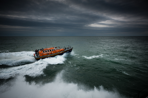 Returning Lifeboat, Irish Sea