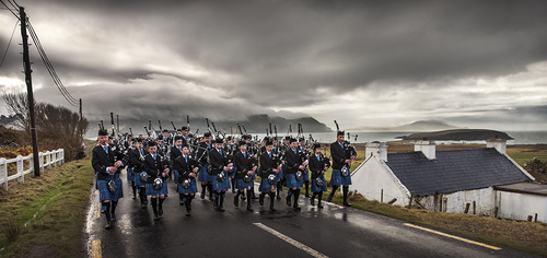 Clew Bay Pipe Band, Achill Island, Ireland