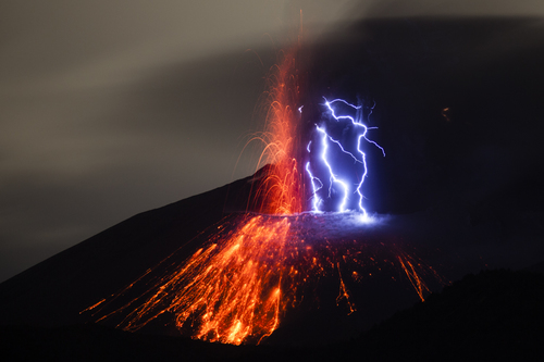 Eruption of Sakurajima volcano