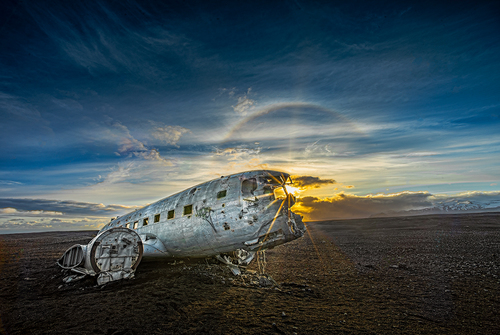 Wreck of the Super DC3 Iceland