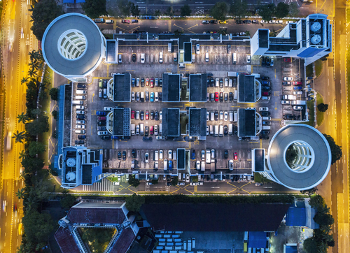 Car park from above