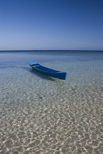 Blue Boat And Horizon
