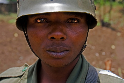 16 years old Congolese soldier