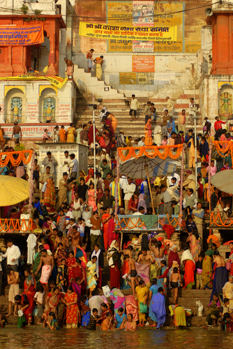 Pilgrims at the Holy Ganges