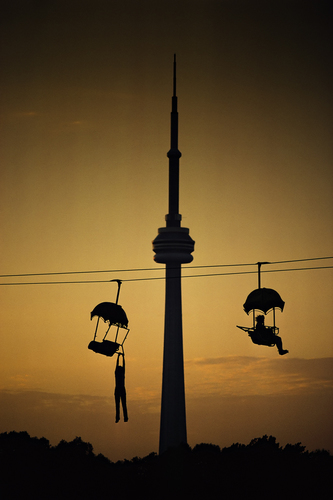 Hanging Out Near the CN Tower, Toronto