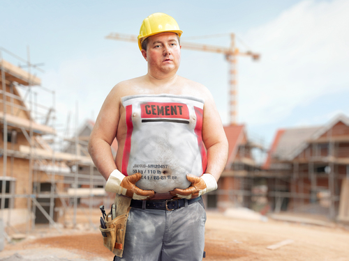 Fat can\'t hide, Construction Worker