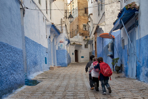 Back from School, Chefchaouen.