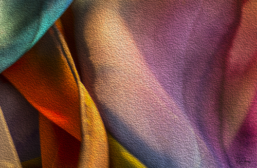 Abstract Expressionism in Silk