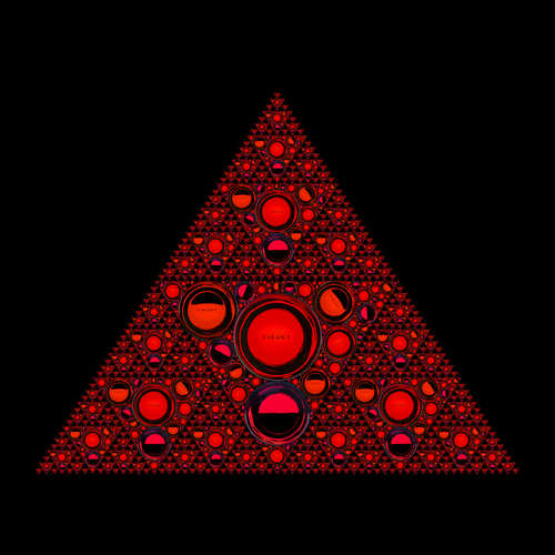 Fractal of Red Wine