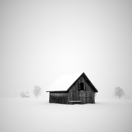 Barn In The Middle Of Winter