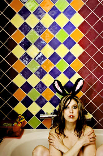 Bunny in the tub (selfportrait), 2012
