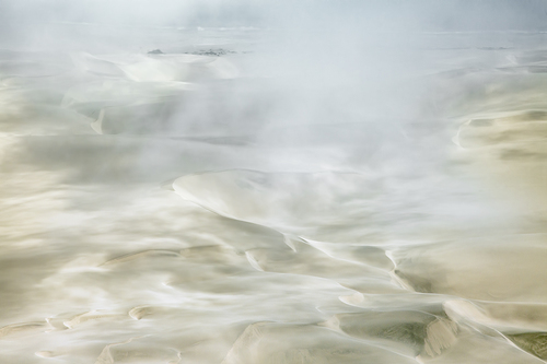 Dunes and Fog and Sea