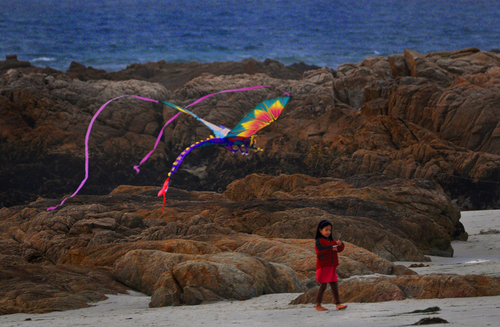 Girl with the Dragon Kite