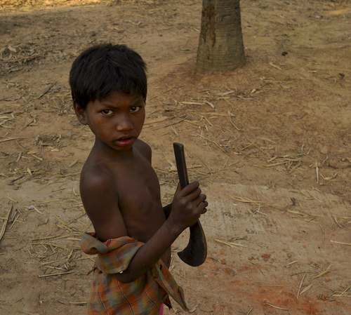Boy with Sickle