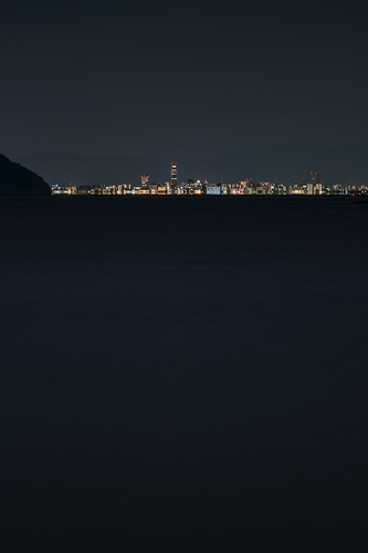 Naoshima to Takamatsu, Night, 01