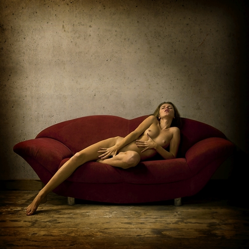 Masha on the Red Sofa