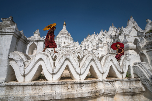 Monks of White Stupa