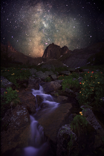 Mountain spirits and the Milky Way