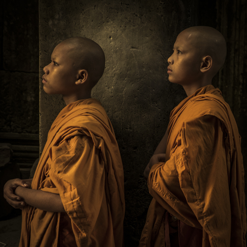 Novice Monks, Angkor Wat, Cambodia (1)