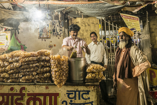 Street Food, Pan Puri Stall (56 Shops), Indore, India
