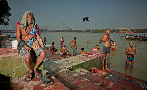 Holy Bath in the Ganges