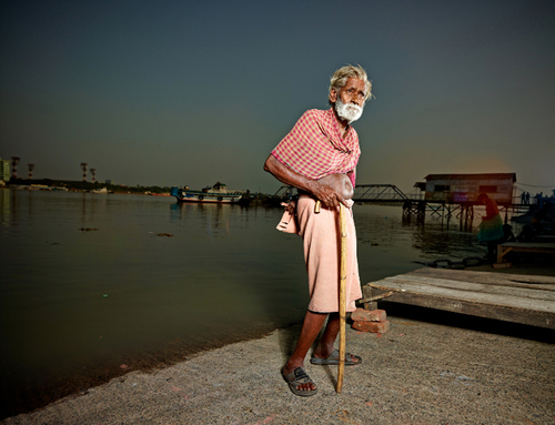 Old Man at the Ganges