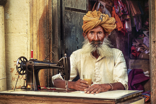 The Tailor Of Jaisalmer, Rajasthan, India