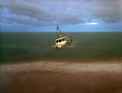 Sunken Coast Guard Boat, Sri Lanka - Tsunami Aftermath