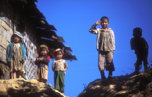 Five Kids, Near Kalaw Burma